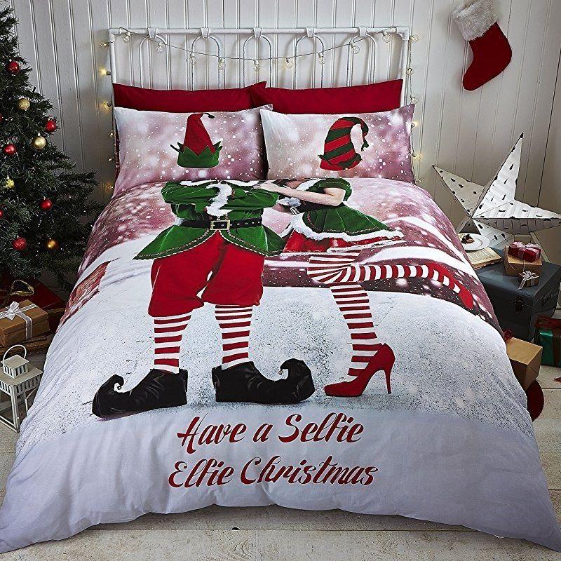 Pościel świąteczna Selfie Elfie Multi 200x200 Pościel Bawełniana