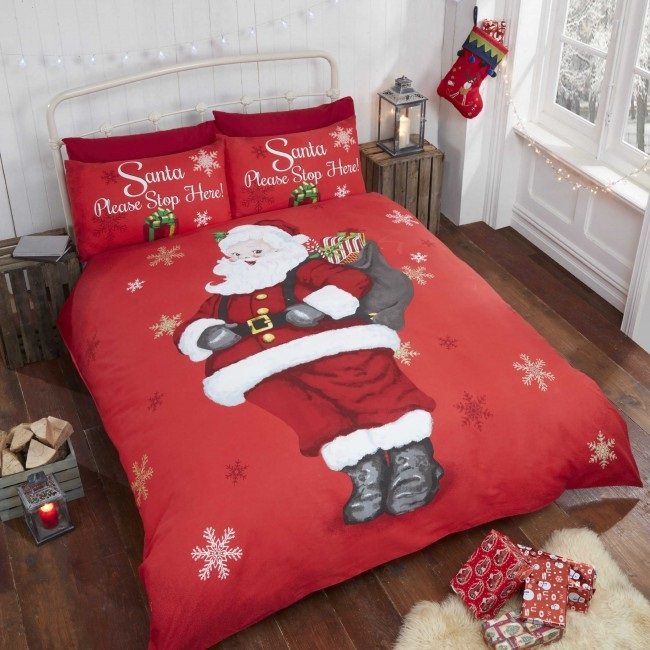 Pościel świąteczna Dla Dzieci Stop Here 140x200 Pościel Bawełniana