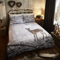 woodland_deer_multi_posciel w skandynawskim stylu 3d jelonki zimowa mlodziezowa