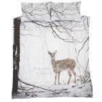 woodland_deer_posciel w skandynawskim stylu 3d jelonki zimowa mlodziezowa