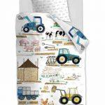 posciel farma kids farm white wiejski pejzaz 140x200 bawelniana wysoka jakosc