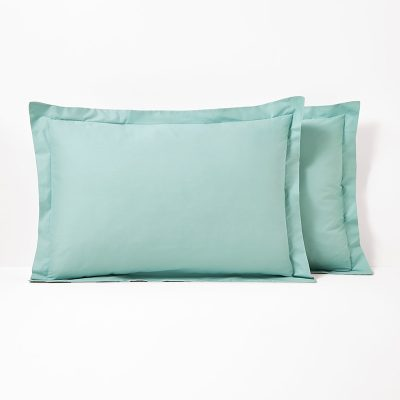 bawełniana poszewka jednolita błękitna na poduszkę 50x70