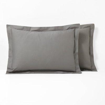 poszewka bawełniana na poduszkę 50x70 ciemny szary grafit