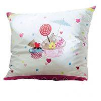 poszewka na poduszkę kolorowe muffinki 140x200 dla dziewczynki kolorowa i zabawna