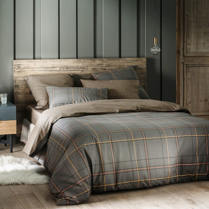 po ciel bawe niana tartan antracyt 240x220 220x200 posciel bawe niana sklep internetowy. Black Bedroom Furniture Sets. Home Design Ideas