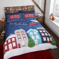 MIDNIGHT_AT_CHRISTMAs posciel dla dzieci swiateczna mikolajki 140x200 swiecąca w ciemności