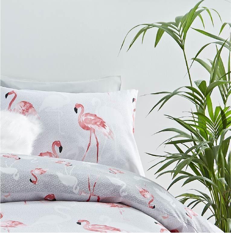 Pościel Z Flamingami Flamingo Grey 140x200 Dotsplanet Sklep