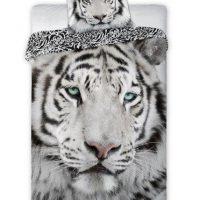 posciel-faro-wild-biały tygrys bawełniana młodziezowa posciel